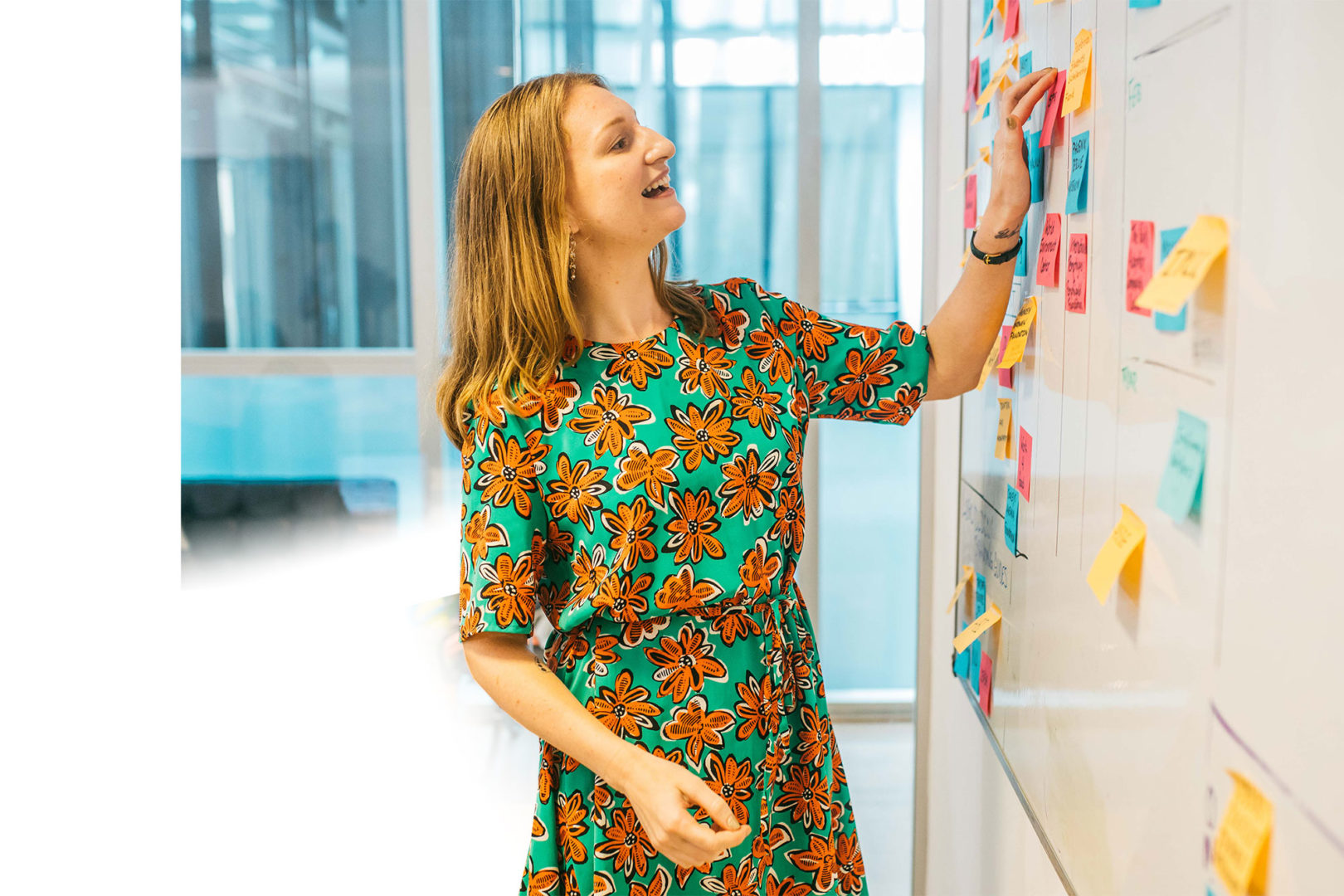 Alura from our team using the whiteboard